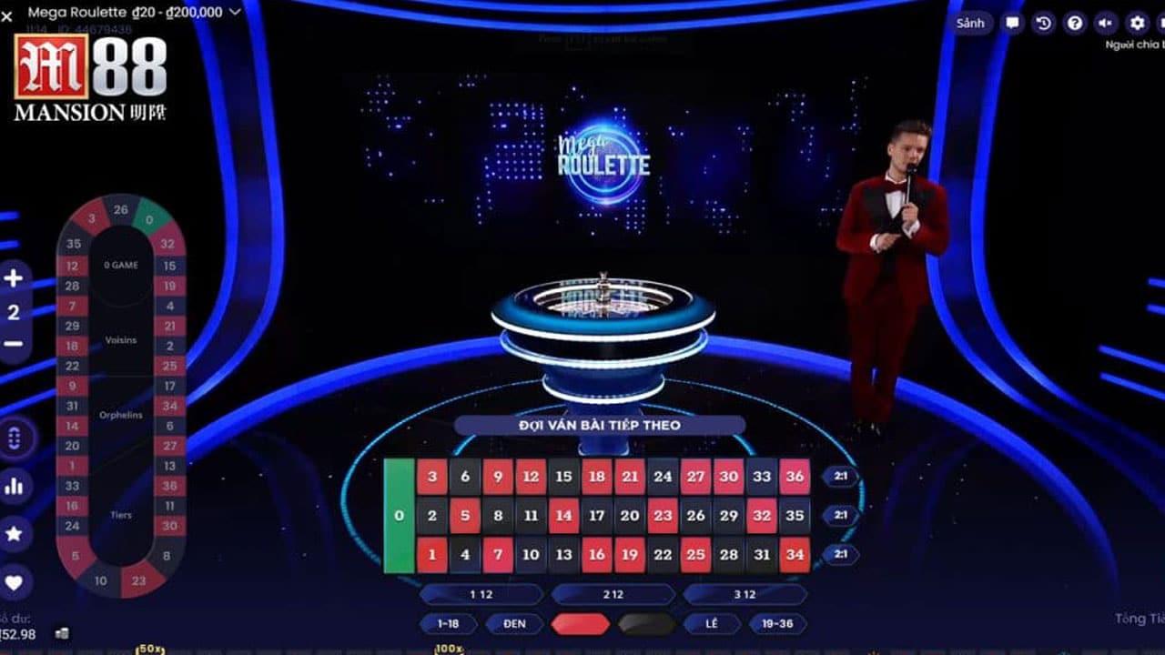 cách chơi Mega Roulette trực tuyến
