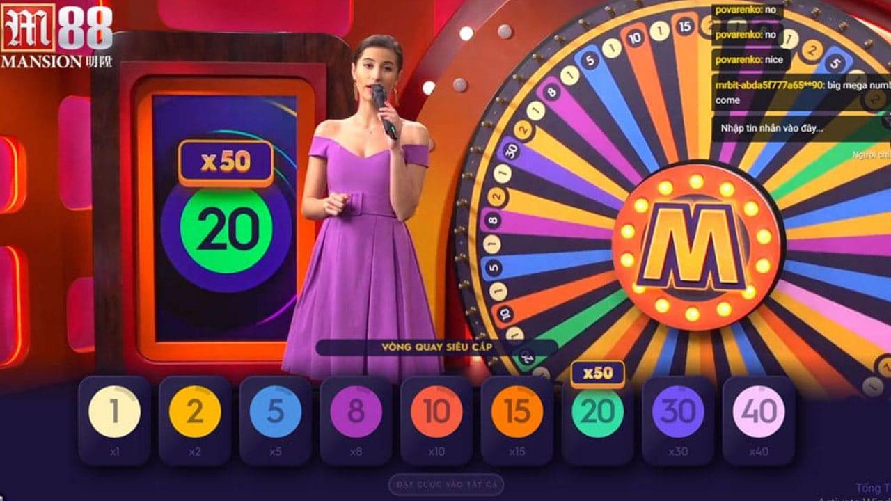 hướng dẫn cách chơi Mega Wheel