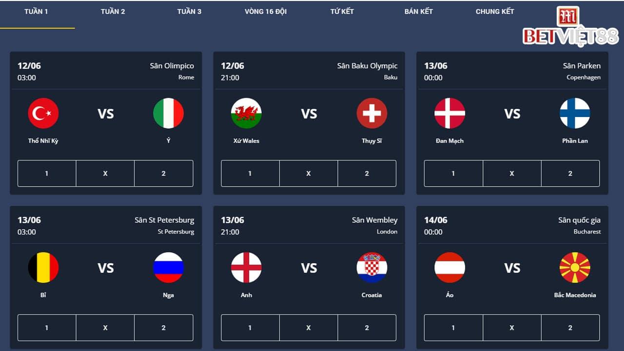 Khuyến Mãi EURO 2020 tại nhà cái